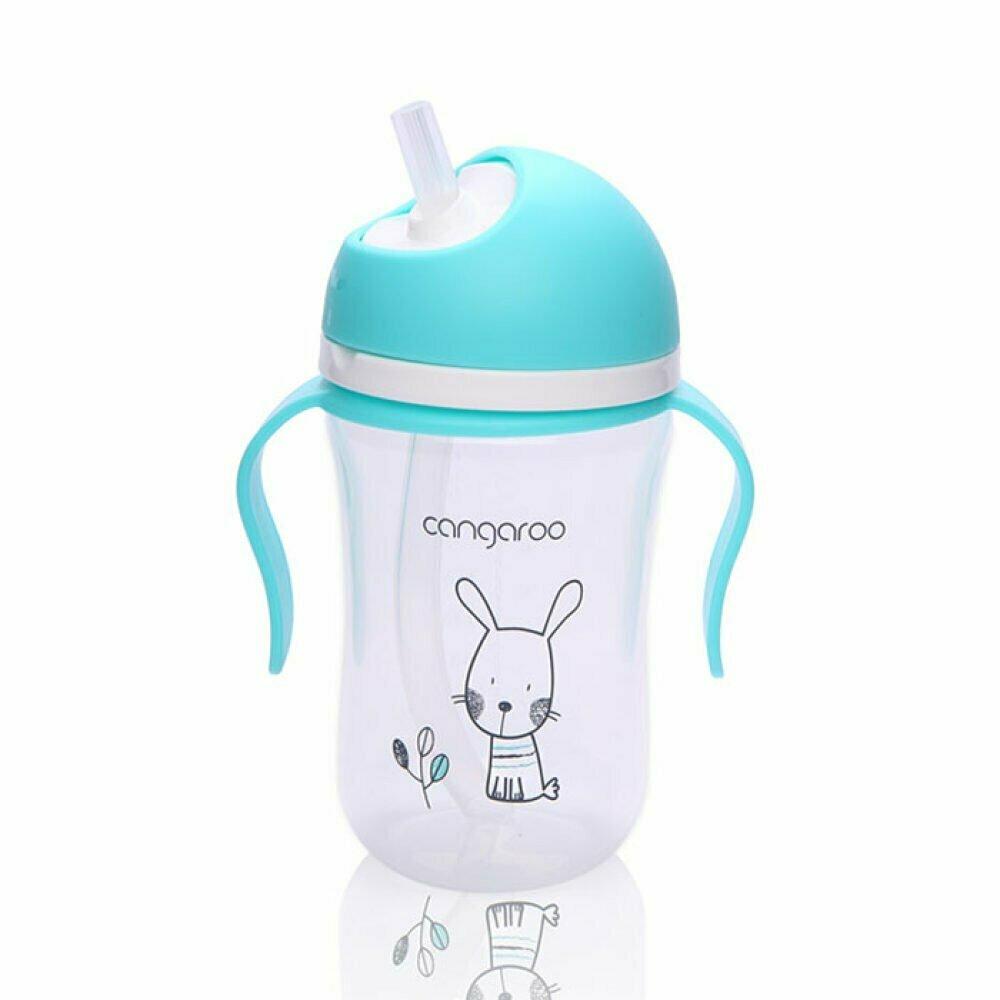 Pp baby šolja 300 ml. 6m+ Sa silikonskom slamkom i ručkom