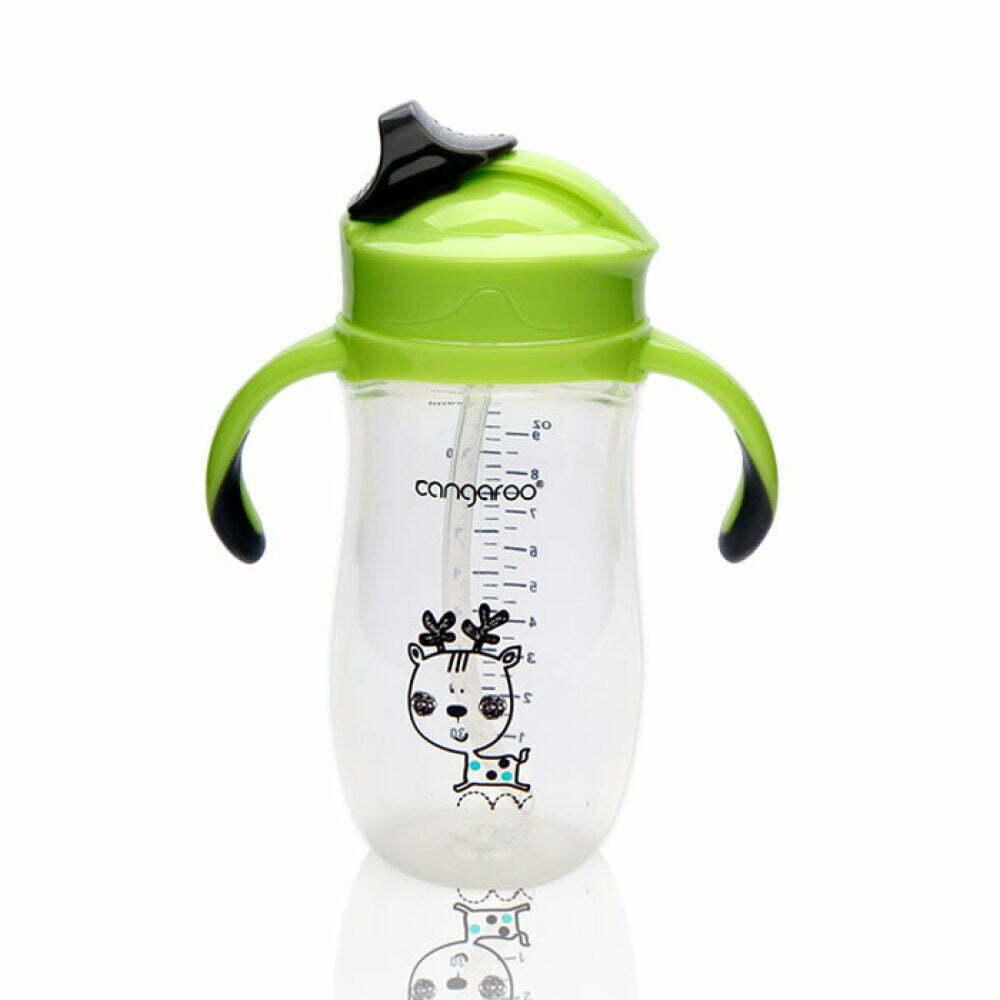 Pp baby šolja deer 280 ml. 6m+ Sa silikonskom slamkom i ručkom
