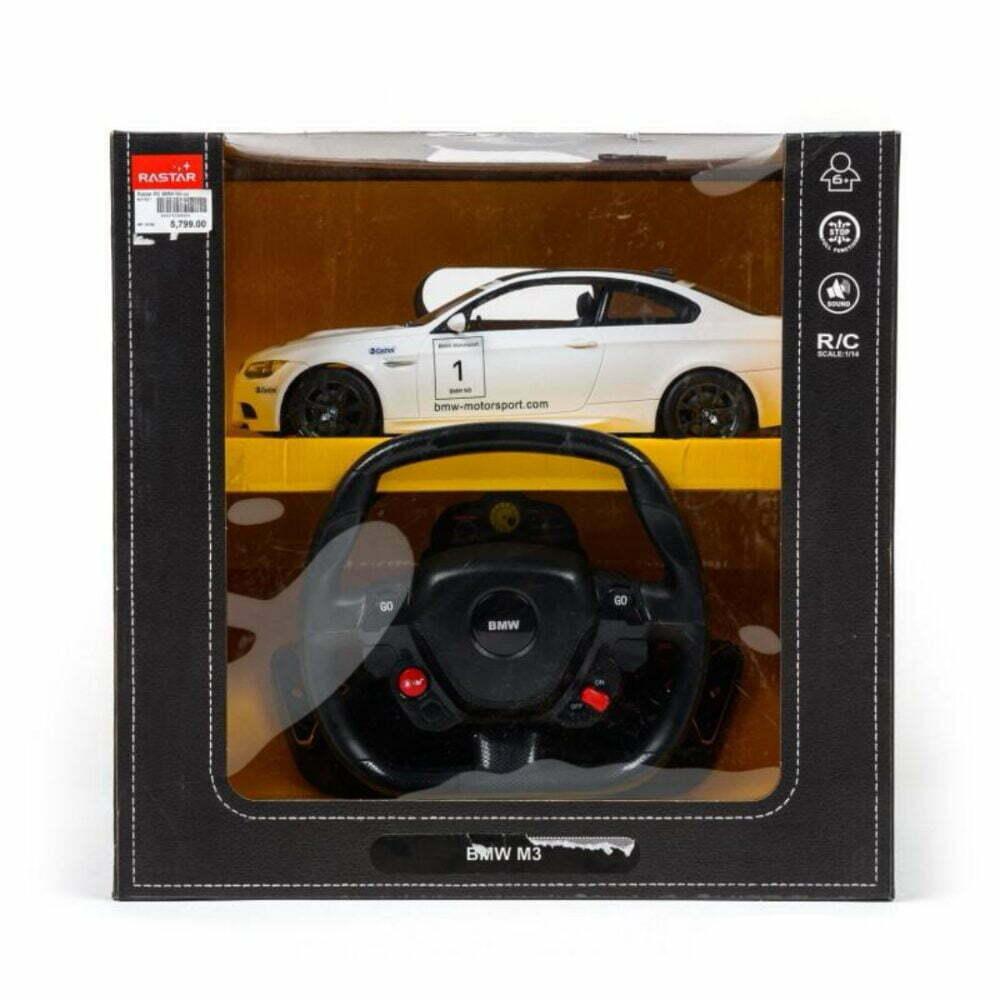 Rastar RC BMW M3 sa volanom 1:14 - crni, beli